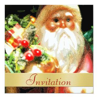 Invitación del día de fiesta del navidad de Santa