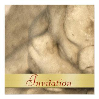 Invitación del día de fiesta del navidad del ángel
