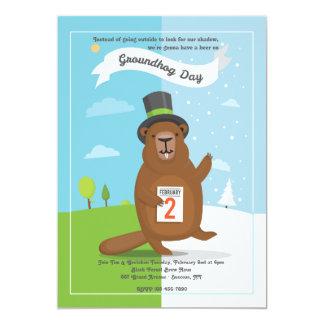 Invitación del día de la marmota
