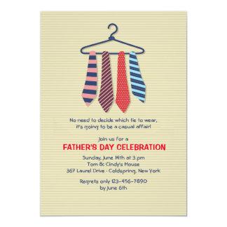 Invitación del día de padre de las corbatas