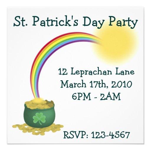 Invitación del día de St Patrick