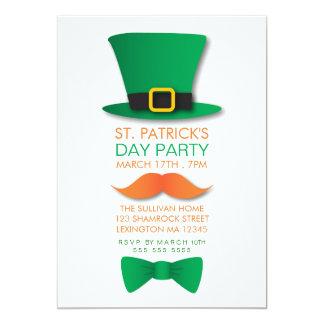 Invitación del día de St Patrick del Leprechaun