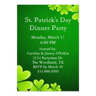 Invitación del día de St Patrick verde de los
