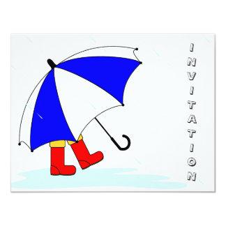 Invitación del día lluvioso invitación 10,8 x 13,9 cm