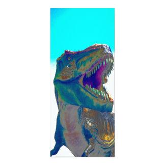 Invitación del dinosaurio invitación 10,1 x 23,5 cm