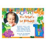 Invitación del dinosaurio - cumpleaños de los niño