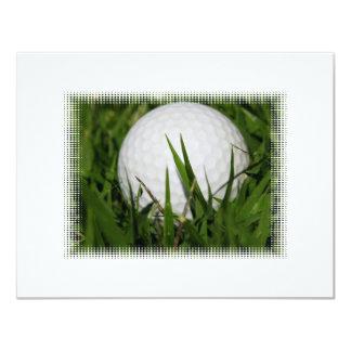 Invitación del diseño de la pelota de golf