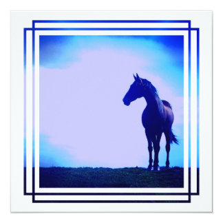 Invitación del diseño del caballo