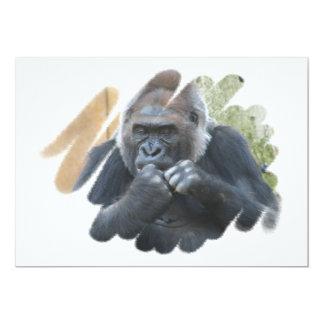 Invitación del diseño del gorila