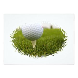 Invitación del diseño del tee de golf