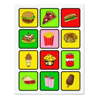 Invitación del drogadicto de los alimentos de invitación 10,8 x 13,9 cm