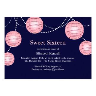 Invitación del dulce 16 de la linterna de la marin