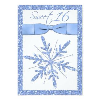 Invitación del dulce 16 del copo de nieve de los