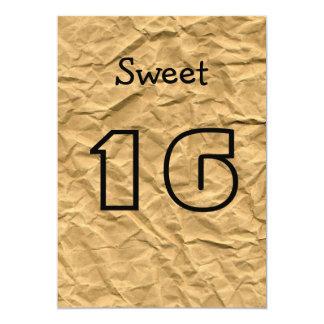 Invitación del dulce 16 del papel de embalaje