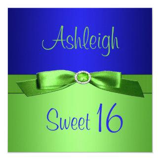 Invitación del dulce dieciséis de la verde lima y