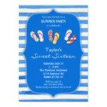 Invitación del dulce dieciséis de los flips-flopes