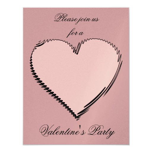 Invitación del el día de San Valentín