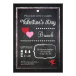 Invitación del el día de San Valentín de la pizarr