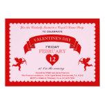 Invitación del el día de San Valentín del Cupid Invitación 12,7 X 17,8 Cm