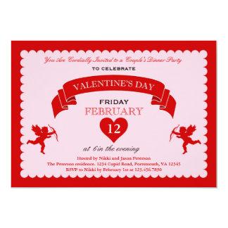 Invitación del el día de San Valentín del Cupid