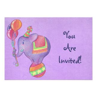 Invitación del elefante del fiesta