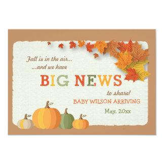 Invitación del embarazo de las buenas noticias