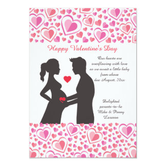 Invitación del embarazo del amor de la tarjeta del