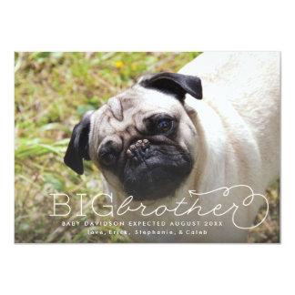 Invitación del embarazo del mascota de la foto de
