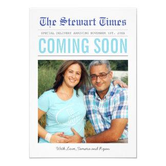 Invitación del embarazo del periódico el |