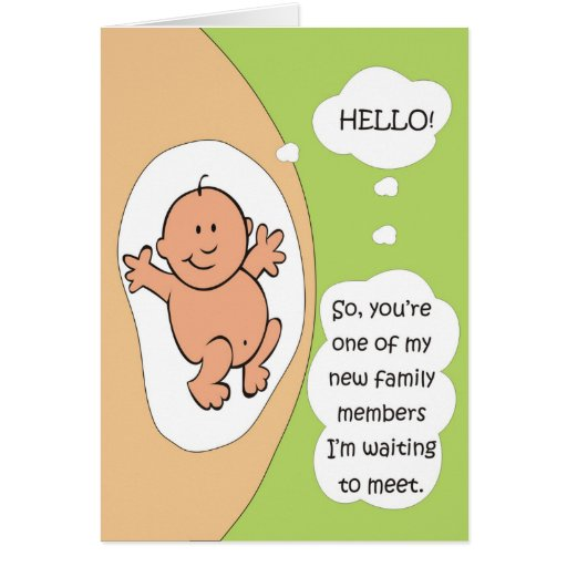 Invitación del embarazo tarjeton
