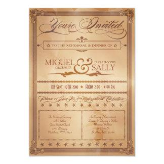 Invitación del ensayo de la sepia del estilo del invitación 12,7 x 17,8 cm