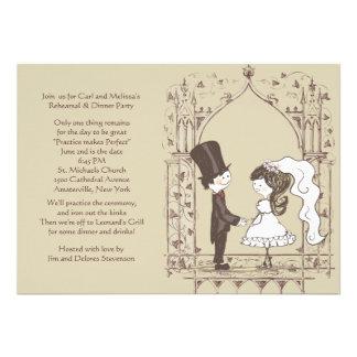 Invitación del ensayo del boda