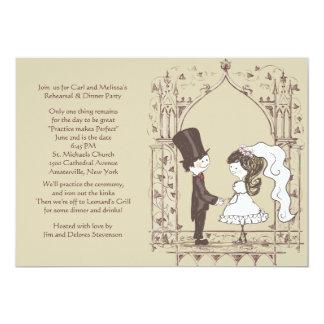 Invitación del ensayo del boda invitación 12,7 x 17,8 cm