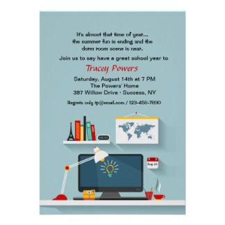 Invitación del escritorio del sitio del dormitorio
