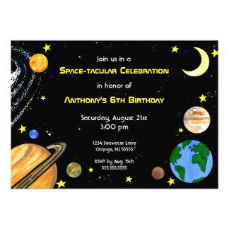 Invitación del espacio exterior de la diversión