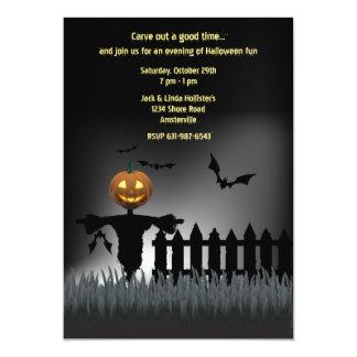 Invitación del espantapájaros de Halloween