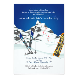 Invitación del esquí