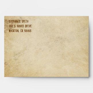 Invitación del estándar del sobre del vintage