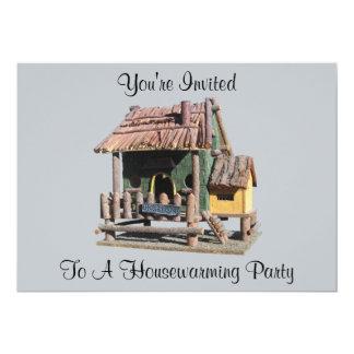 Invitación del estreno de una casa