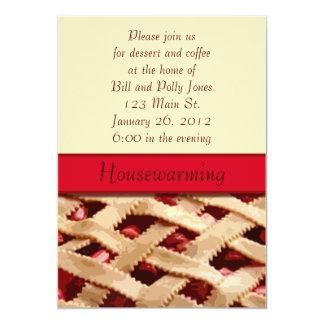 Invitación del estreno de una casa de la empanada