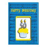 Invitación del feliz cumpleaños 50.o invitación 12,7 x 17,8 cm