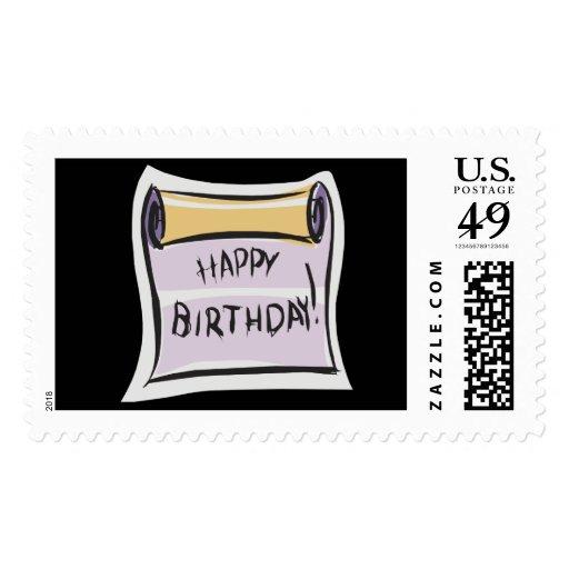 Invitación del feliz cumpleaños sello