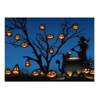 Invitación del feliz Halloween