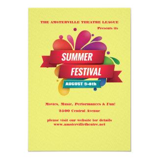 Invitación del festival del verano invitación 12,7 x 17,8 cm