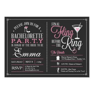 Invitación del fiesta de Bachelorette con