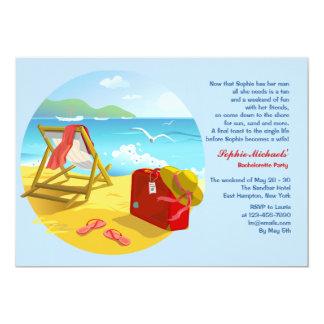 Invitación del fiesta de Bachelorette de la playa