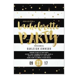Invitación del fiesta de Bachelorette de la raya