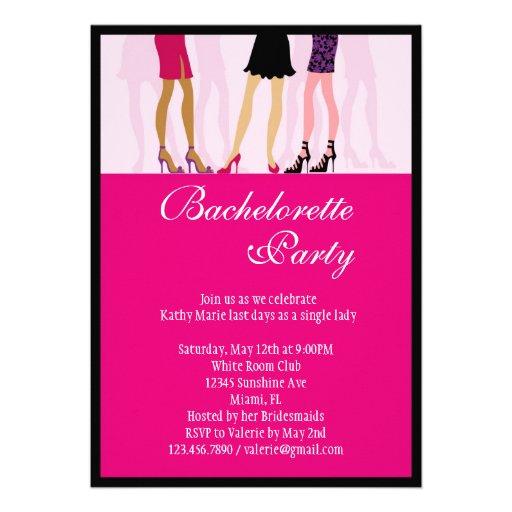 Invitación del fiesta de Bachelorette de los chica