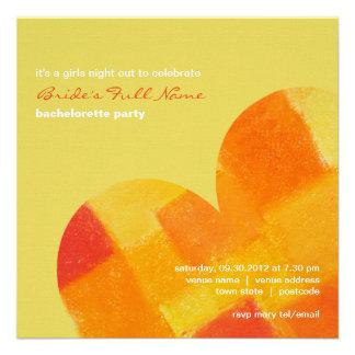 Invitación del fiesta de Bachelorette del confeti
