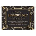 Invitación del fiesta de Bachelorette del estilo d